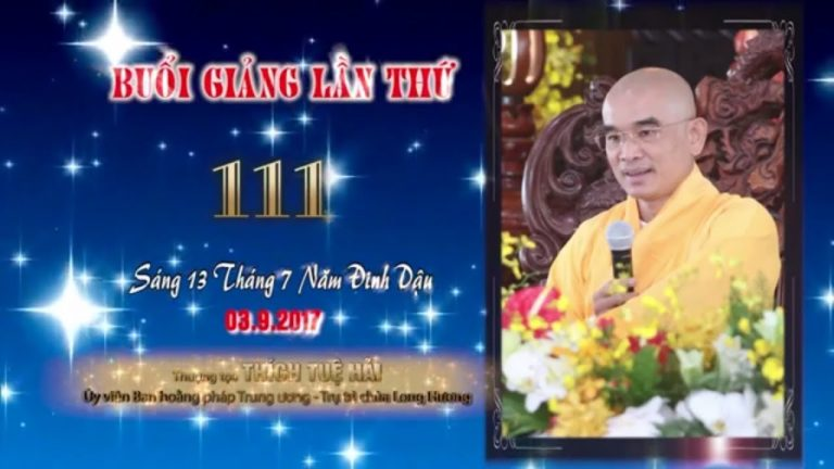 Kinh Hoa Nghiêm 111 – Thích Tuệ Hải