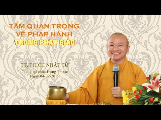 Tầm quan trọng về pháp hành trong Phật giáo – Thích Nhật Từ