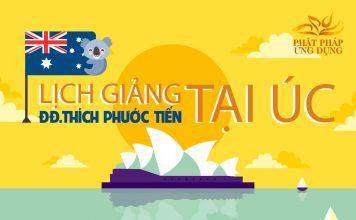 Lịch Giảng Của Thầy Thích Phước Tiến Tại Úc Châu