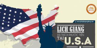 Lịch giảng của Thầy Thích Phước Tiến tại Mỹ tháng 10, 11 & 12 năm 2017