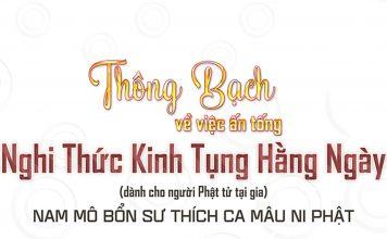 Thông Bạch việc Ấn tống KINH TỤNG HẰNG NGÀY (dành cho Phật tử tại gia) - ppud