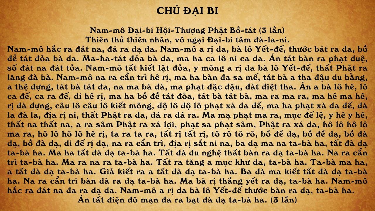 Chú Đại Bi Tiếng Việt 21 Biến - Thầy Thích Trí Thoát Tụng