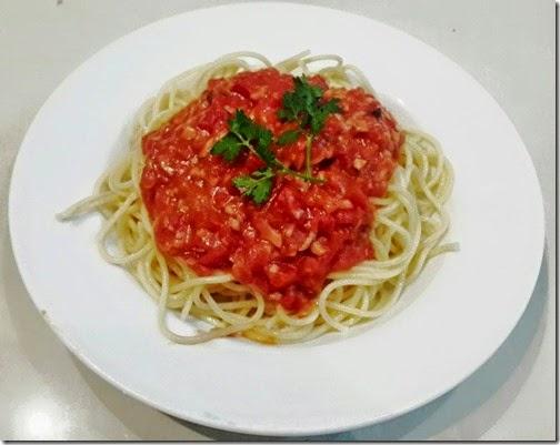 Mỳ Ý sốt cà