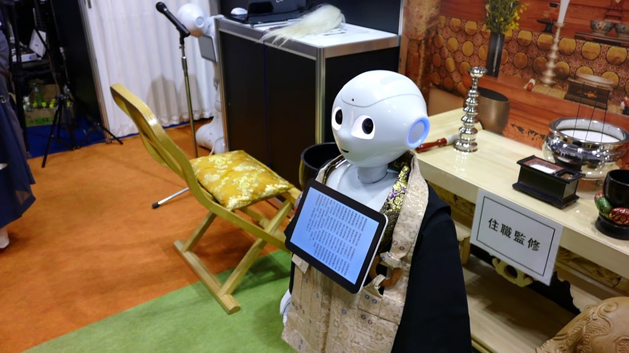 Cảm Giác Rùng Mình Về Robot Tụng Kinh Tại Nhật