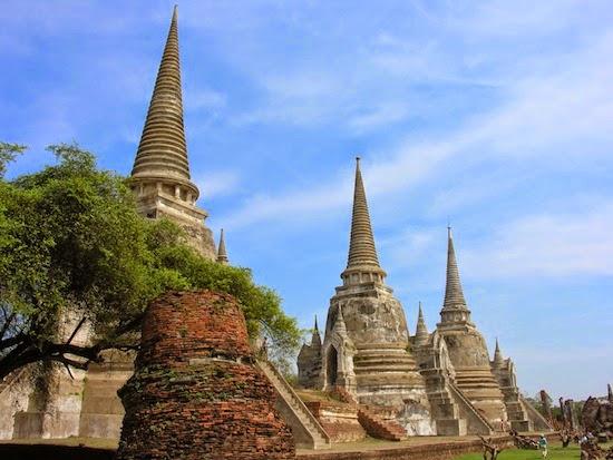 Chùa Wat Pra Sri Sanphet tại cố đô Thái Lan