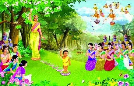 Hình ảnh Đức Phật Đản sanh có ý nghĩa lớn đối với những người làm mẹ
