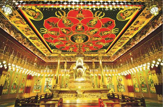 Ngôi chùa mang kiến trúc thời Đường trên đất Singapore