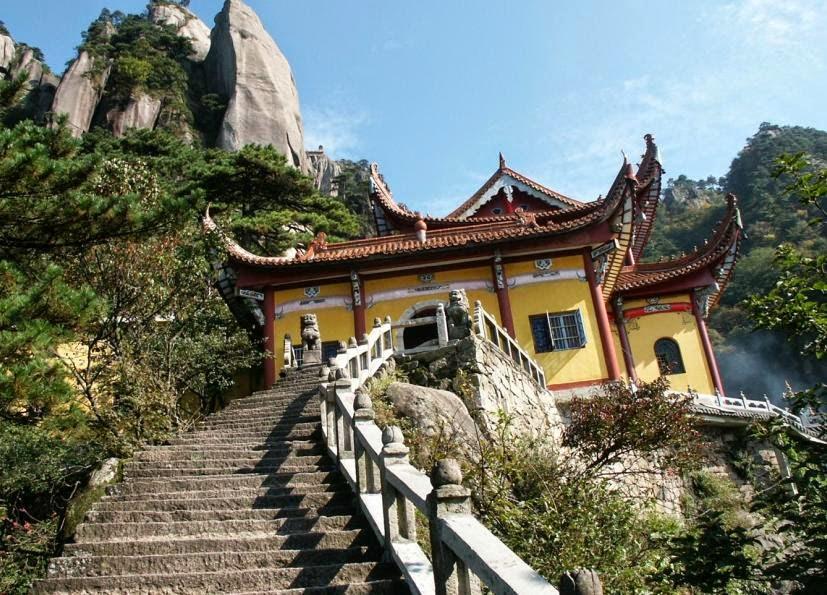 Núi Jiuhua - khu thắng cảnh tuyệt đẹp phía Đông Trung Quốc