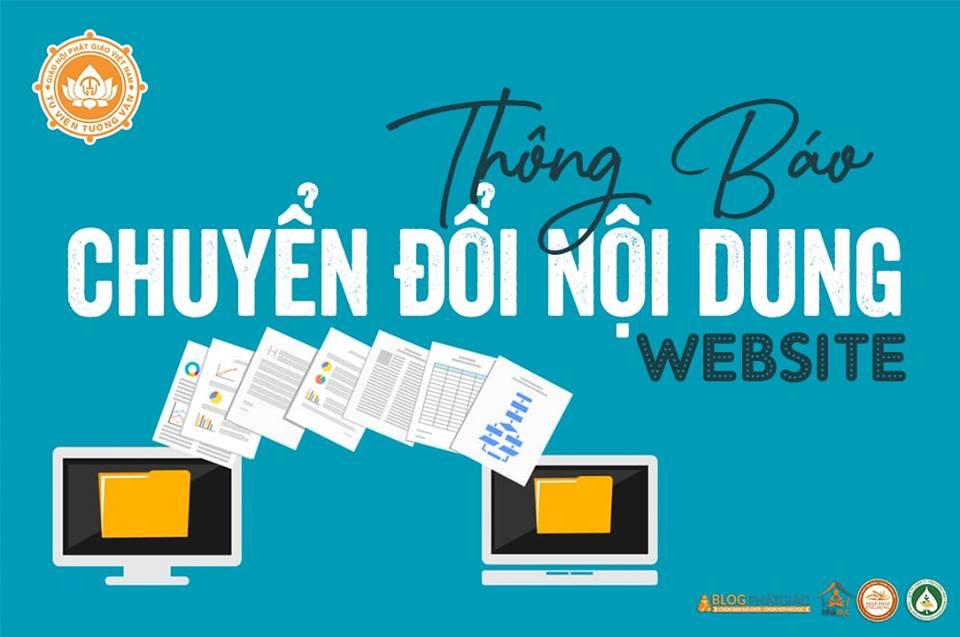 Thông Báo Chuyển Đổi Nội Dung Website