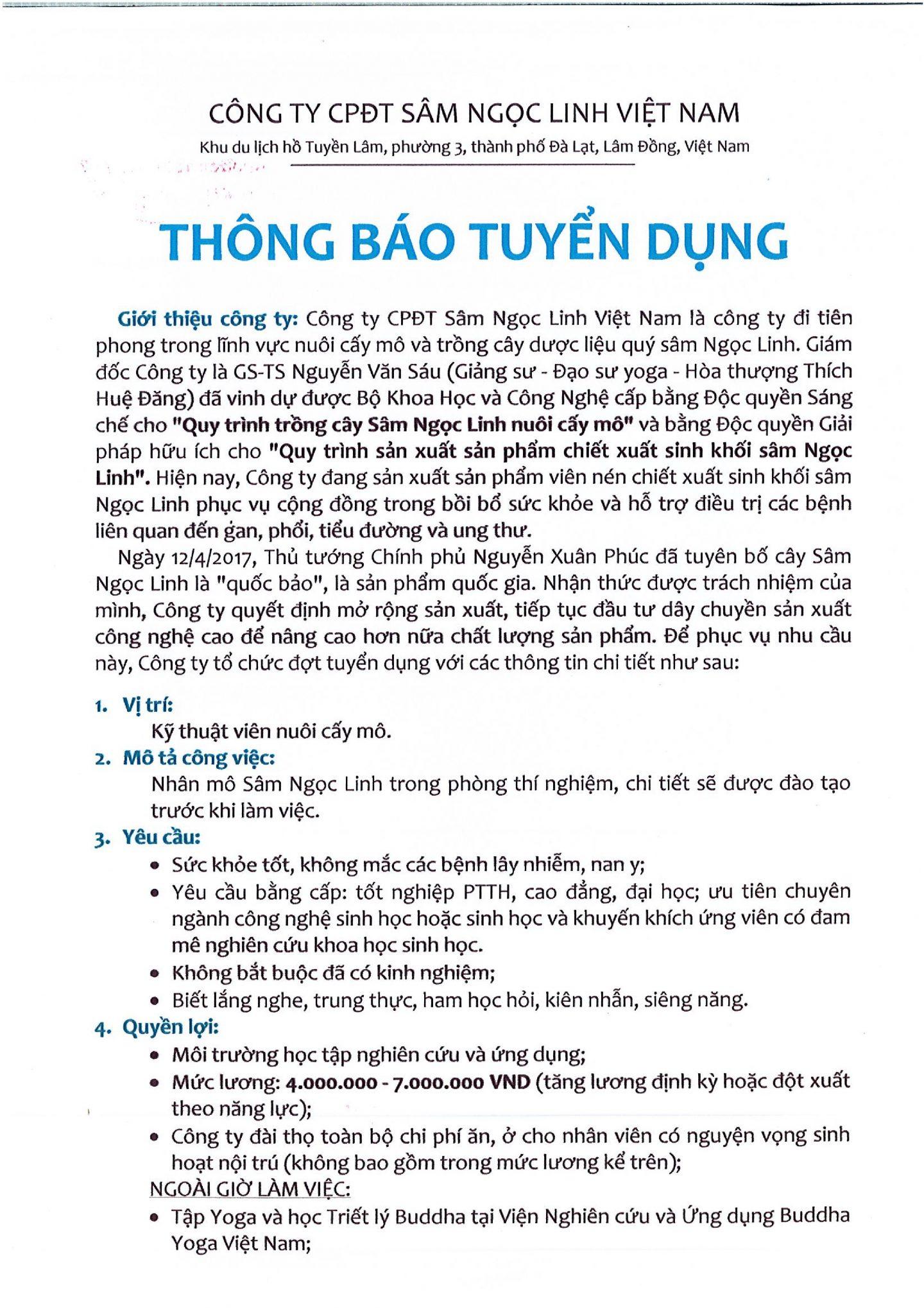 TBTD Sâm Ngọc Linh 001